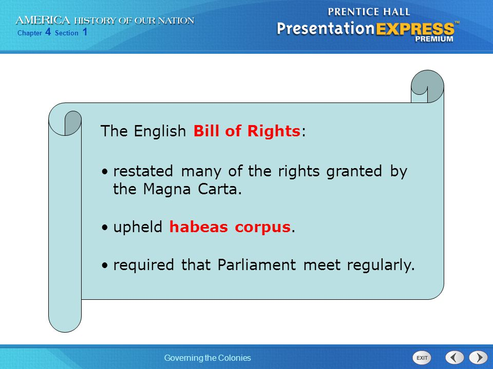 The English Bill of Rights: