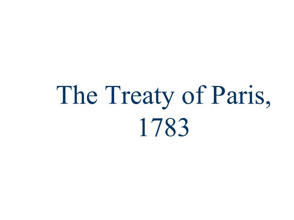The Treaty of Paris, 1783