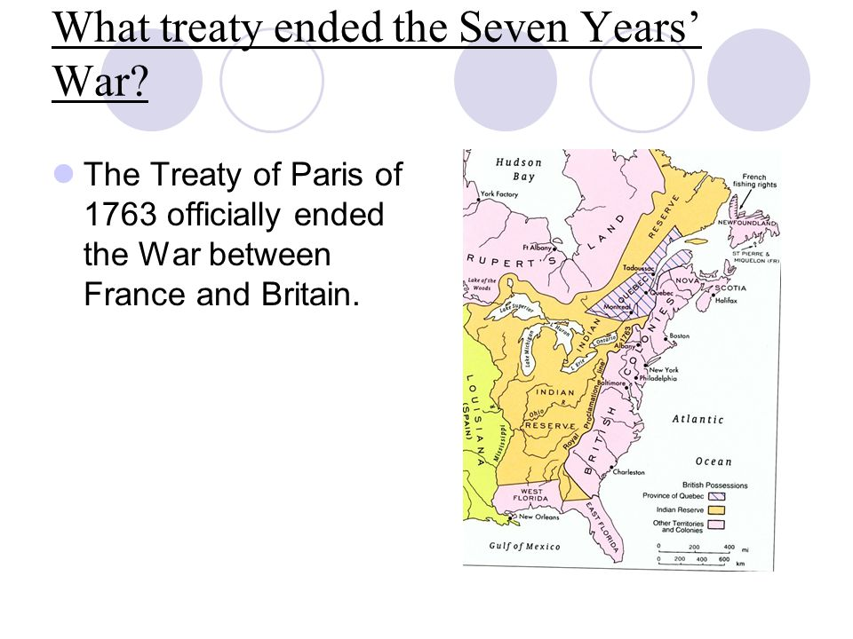 What treaty ended the Seven Years' War