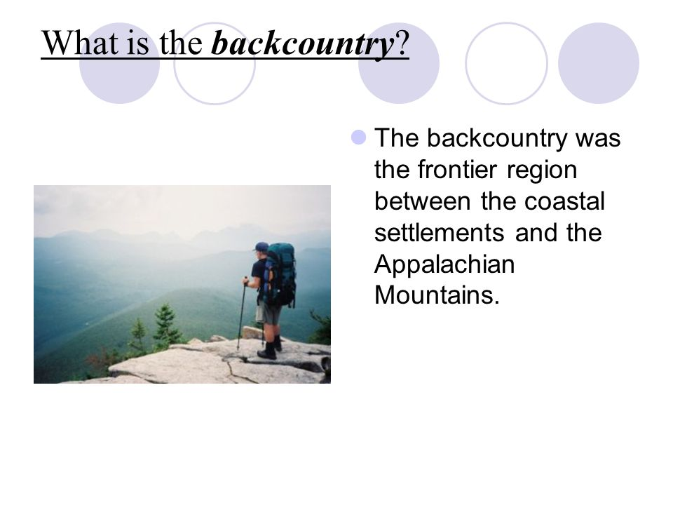 What is the backcountry