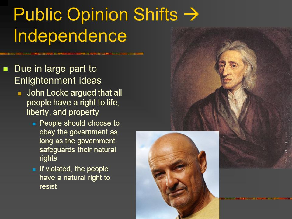 Public Opinion Shifts  Independence