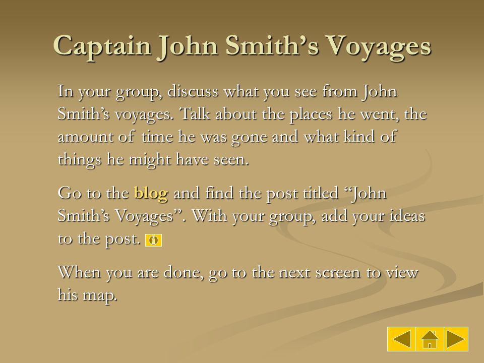Captain John Smith's Voyages