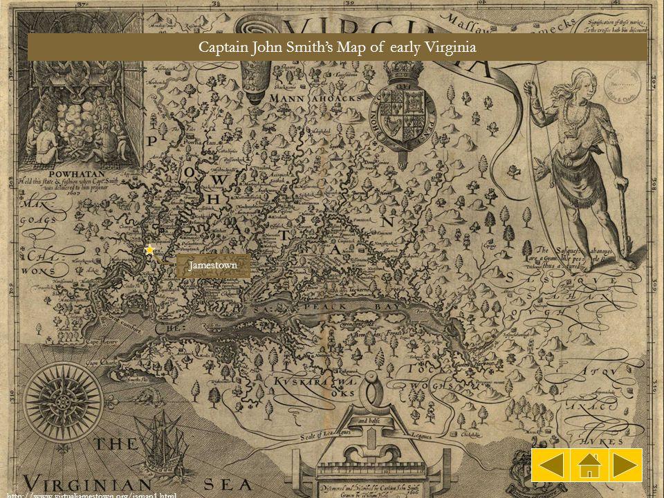 Captain John Smith's Map of early Virginia