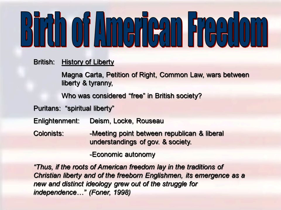 Birth of American Freedom