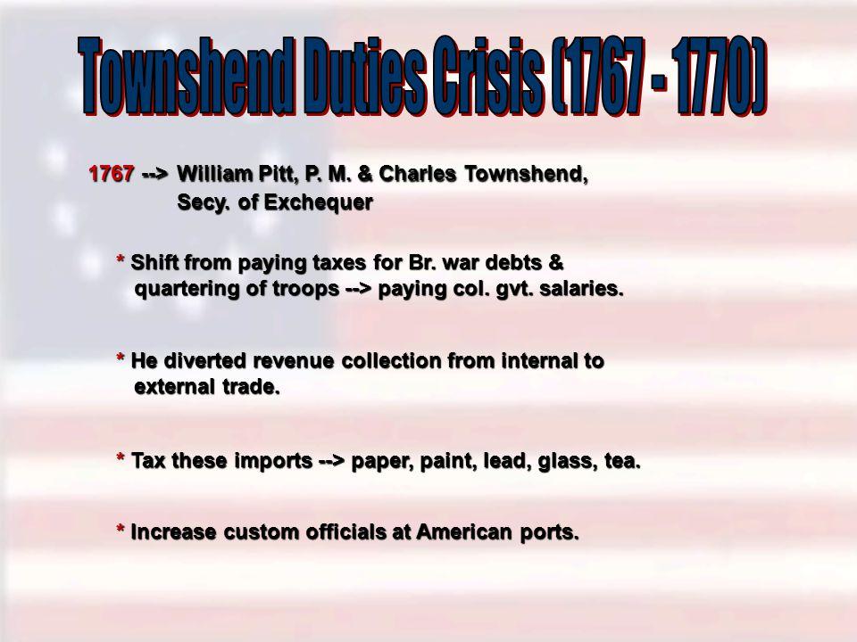 Townshend Duties Crisis (1767 - 1770)