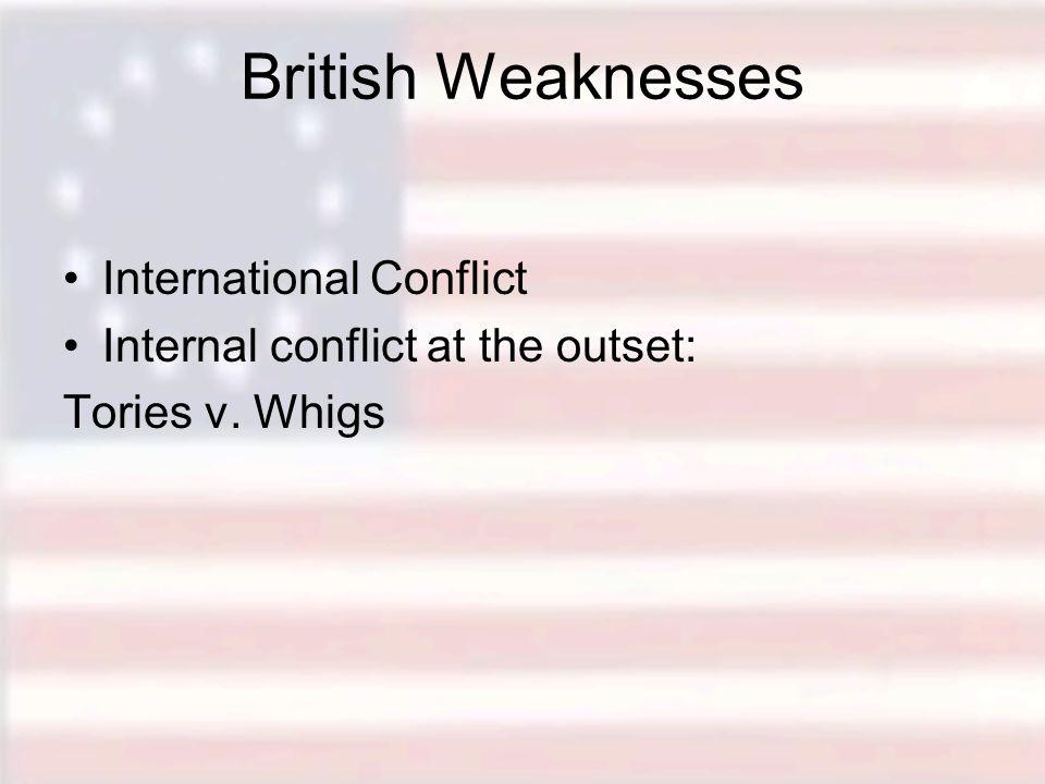 British Weaknesses International Conflict