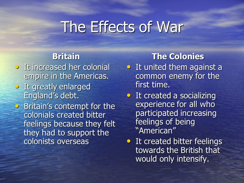 The Effects of War Britain