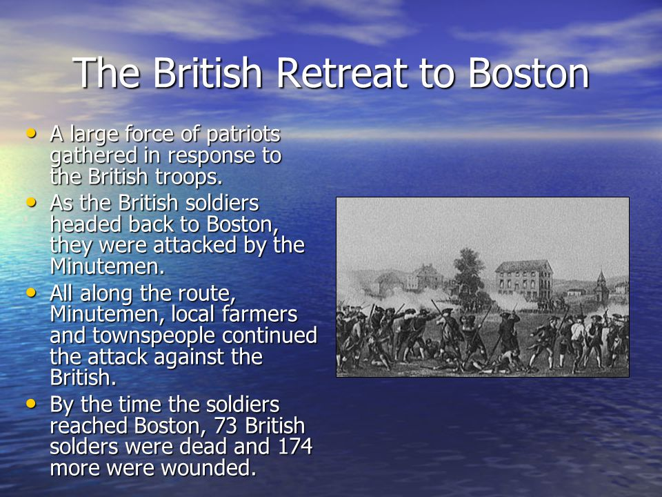 The British Retreat to Boston