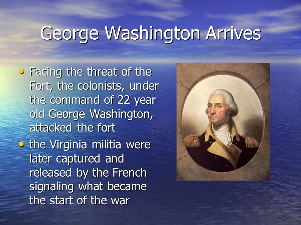 George Washington Arrives