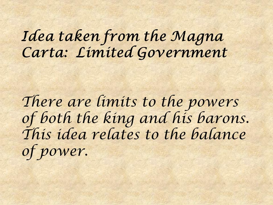 magna carta separation of powers Enduring legacy of magna carta: the lesson that no power is absolute  first, it  laid the foundation for the doctrine of separation of powers.