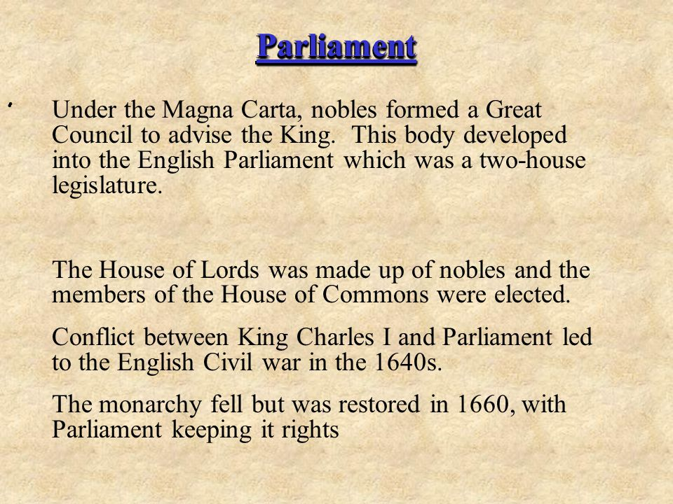 Parliament .