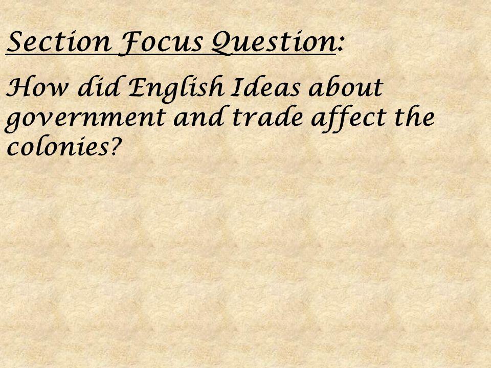 Section Focus Question: