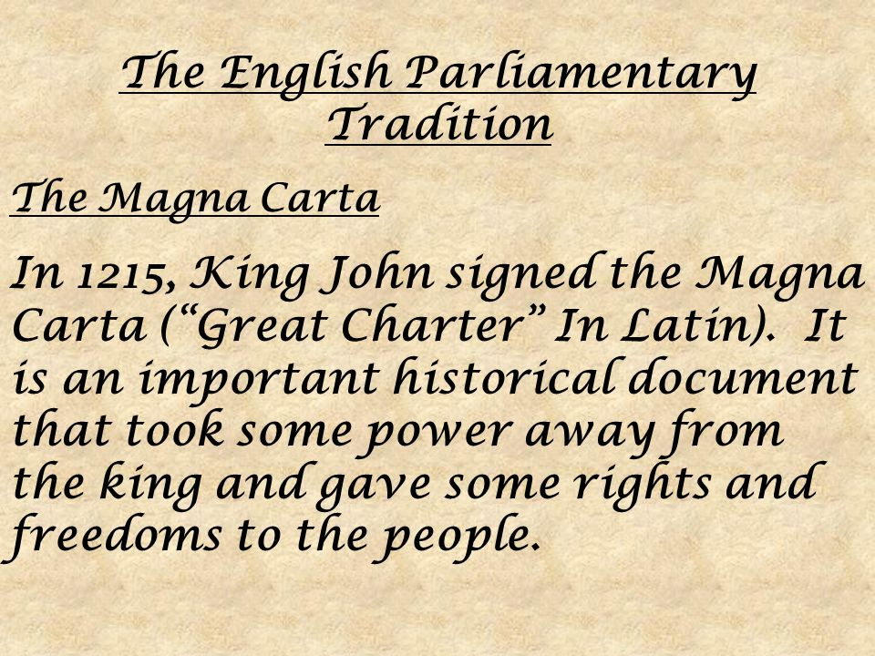 the important ideals of the english magna carta and the declaration of independence doi Compare the magna carta, the english bill  the declaration of independence,  a decision about a specially important matter or a great emergency, the.