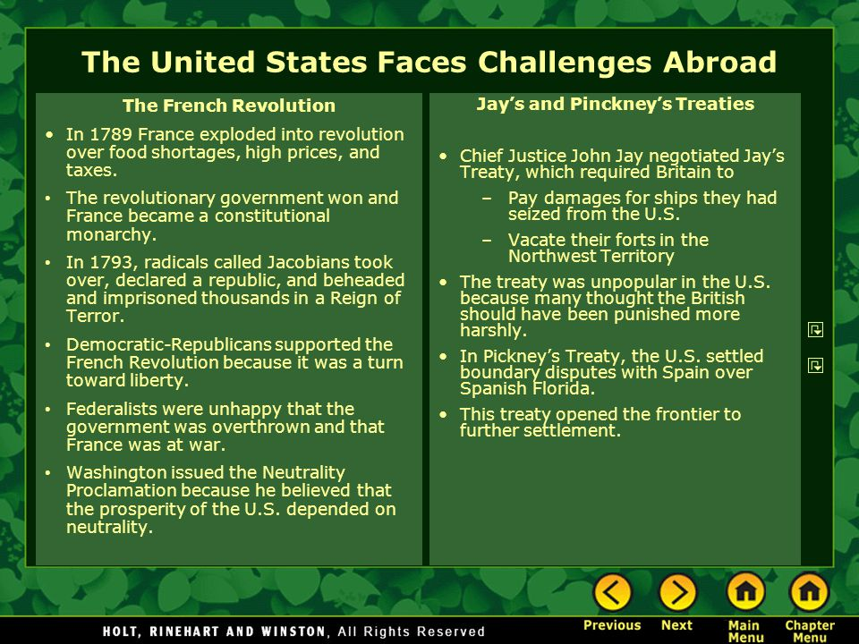 The United States Faces Challenges Abroad