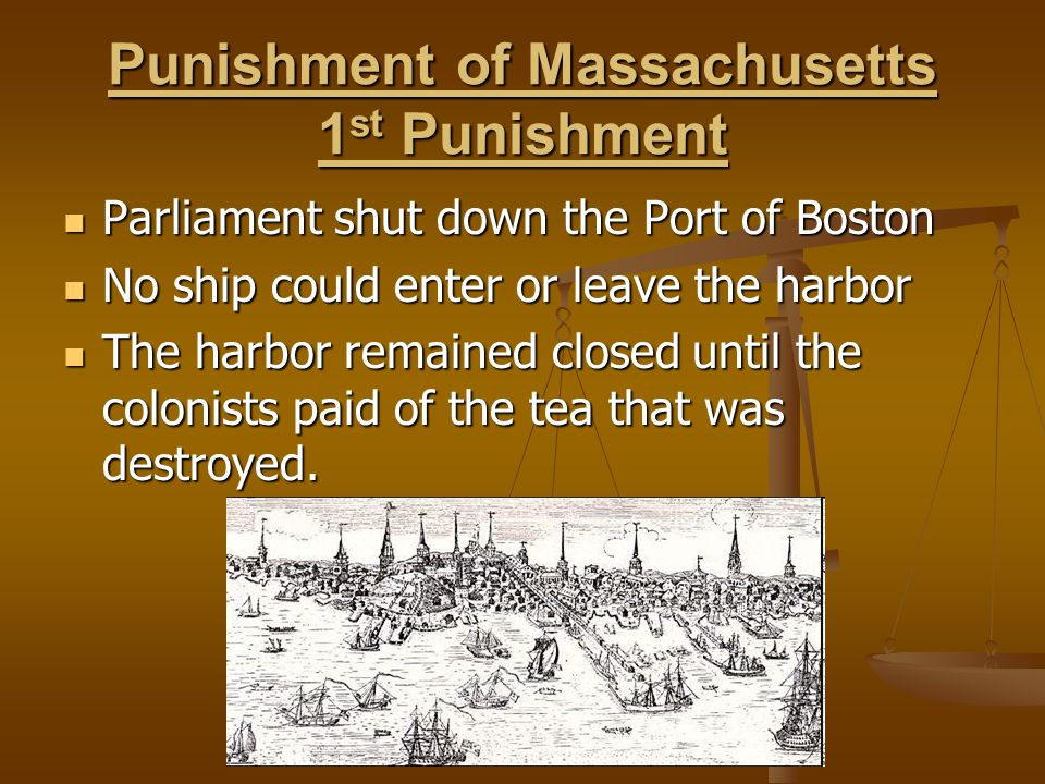 Punishment of Massachusetts 1st Punishment