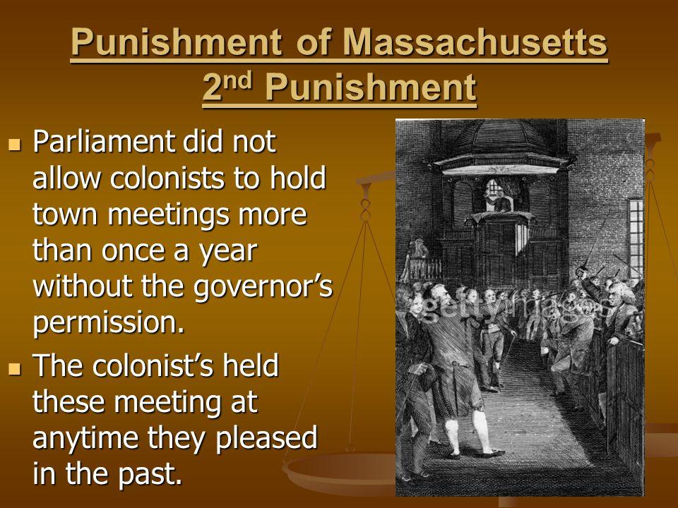 Punishment of Massachusetts 2nd Punishment