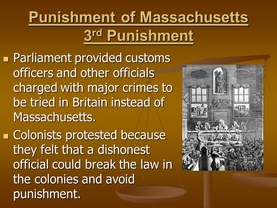 Punishment of Massachusetts 3rd Punishment