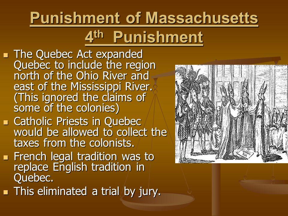 Punishment of Massachusetts 4th Punishment