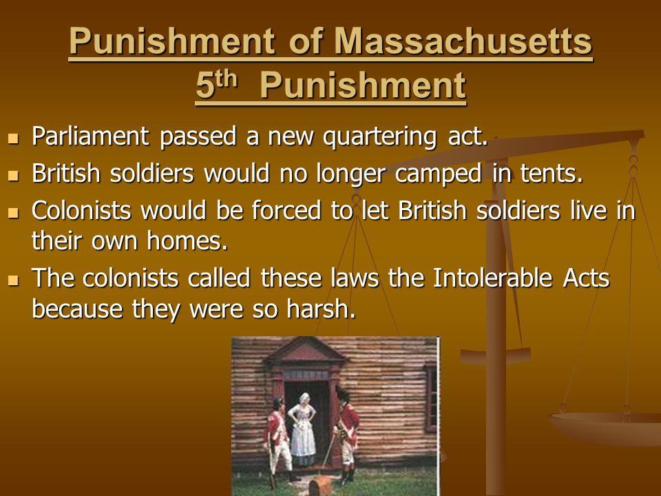 Punishment of Massachusetts 5th Punishment