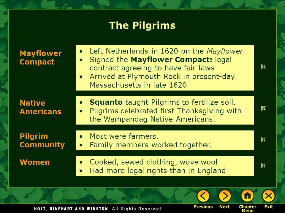 The Pilgrims Left Netherlands in 1620 on the Mayflower
