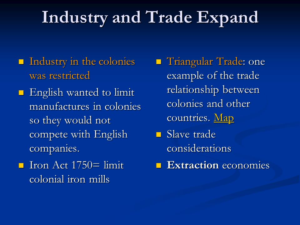 Industry and Trade Expand