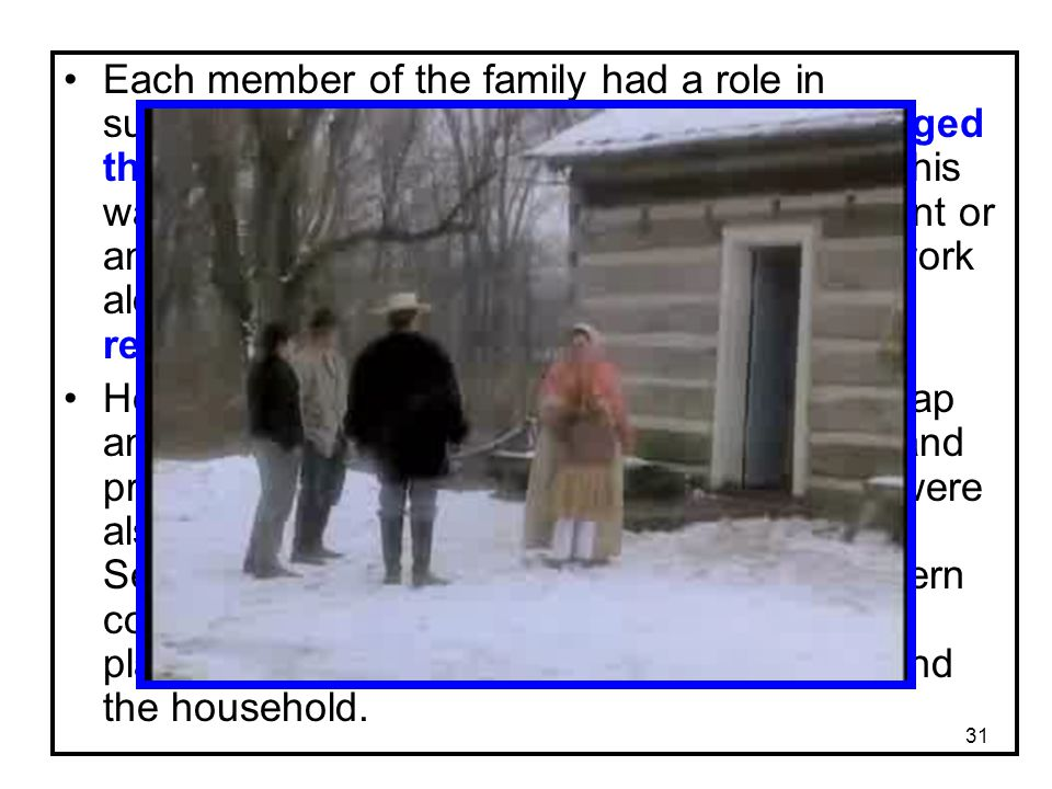 Each member of the family had a role in supporting the household