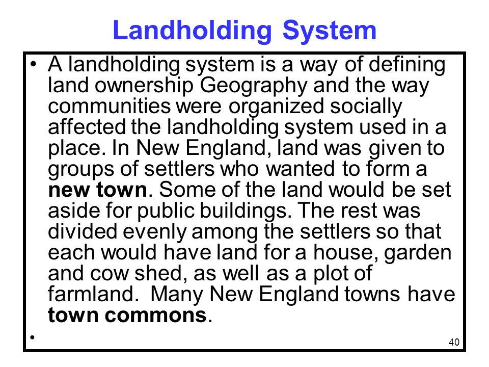 Landholding System
