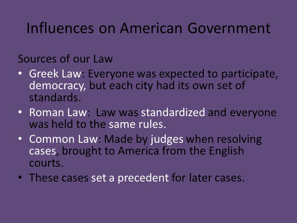 Influences on American Government