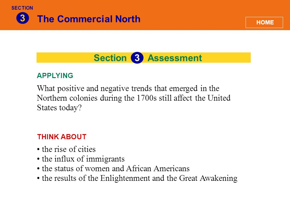 3 The Commercial North 3 Section Assessment