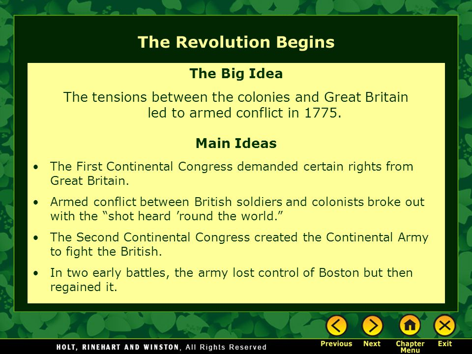 The Revolution Begins The Big Idea