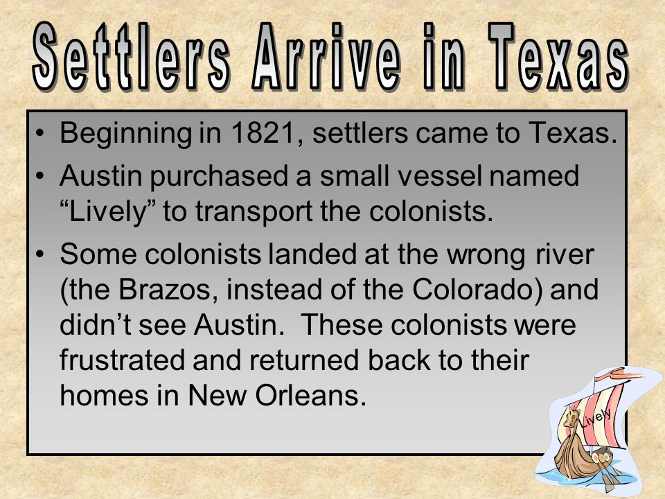 Settlers Arrive in Texas