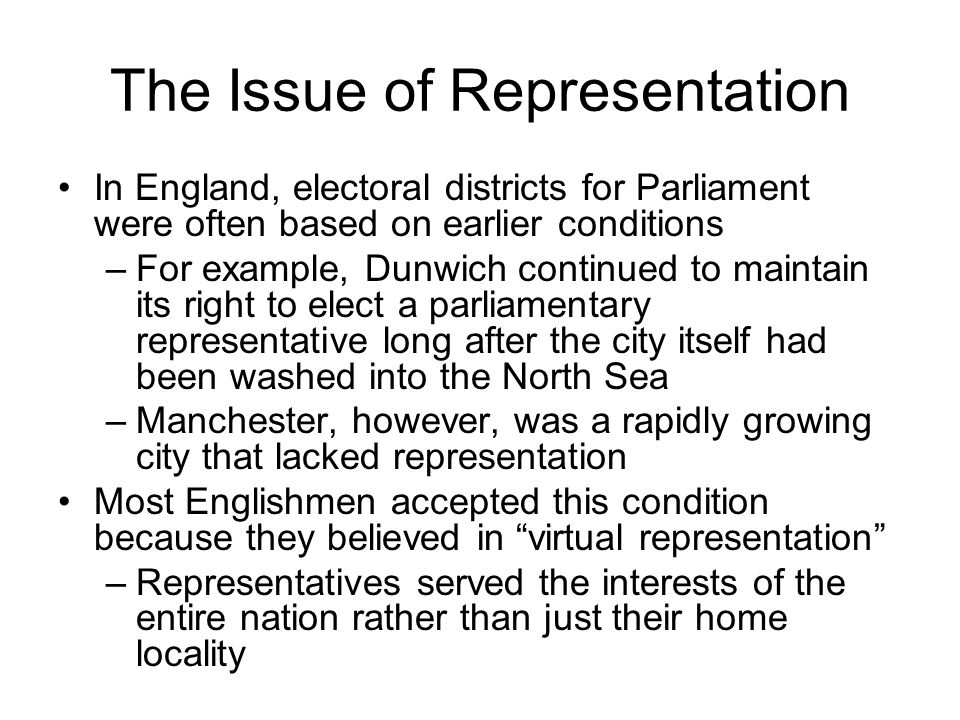 The Issue of Representation
