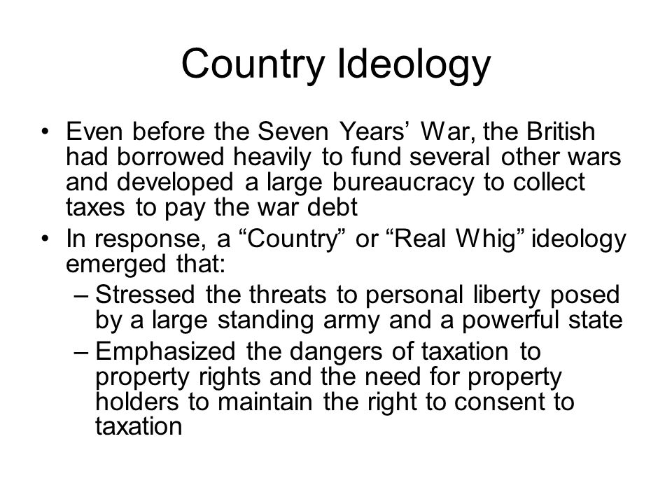 Country Ideology