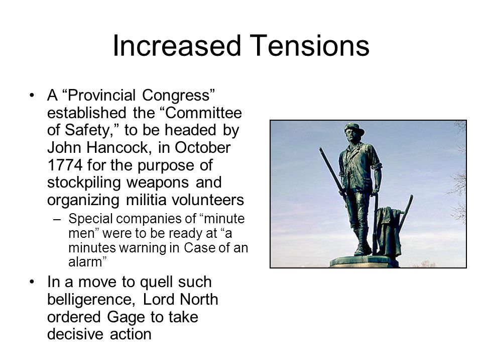 Increased Tensions