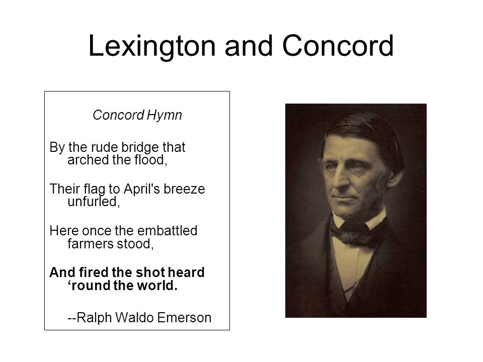 Lexington and Concord Concord Hymn