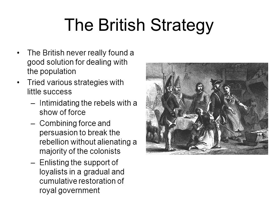 The British Strategy The British never really found a good solution for dealing with the population.
