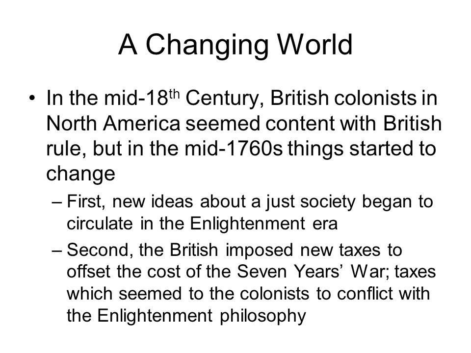 democracy american and french revolutions theme the effect of 4 a changing world in the mid 18th century