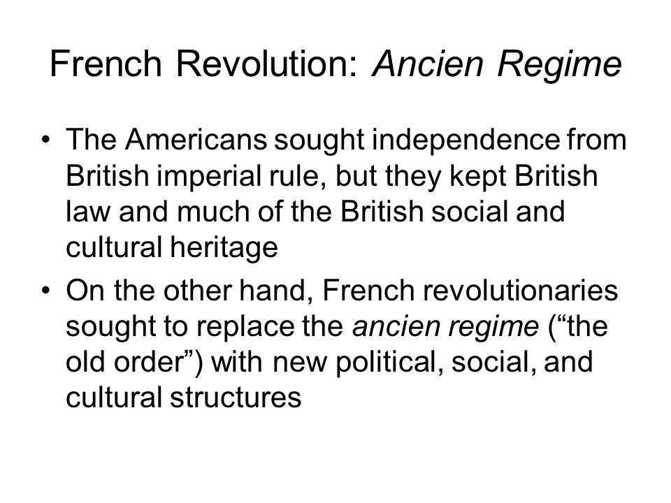 French Revolution: Ancien Regime