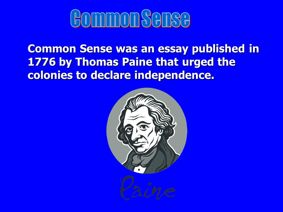 common sense essays The delivery of the black-letter law has not been satisfactory to both the society and the jurors jurors coming to the box may walk out.