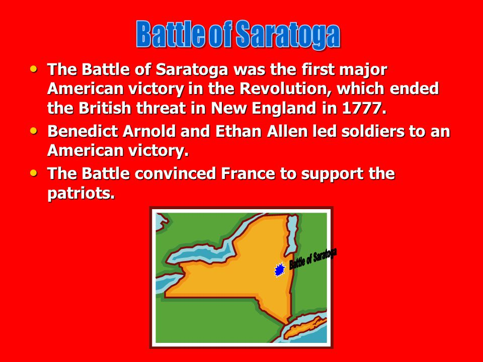 Battle of Saratoga Battle of Saratoga