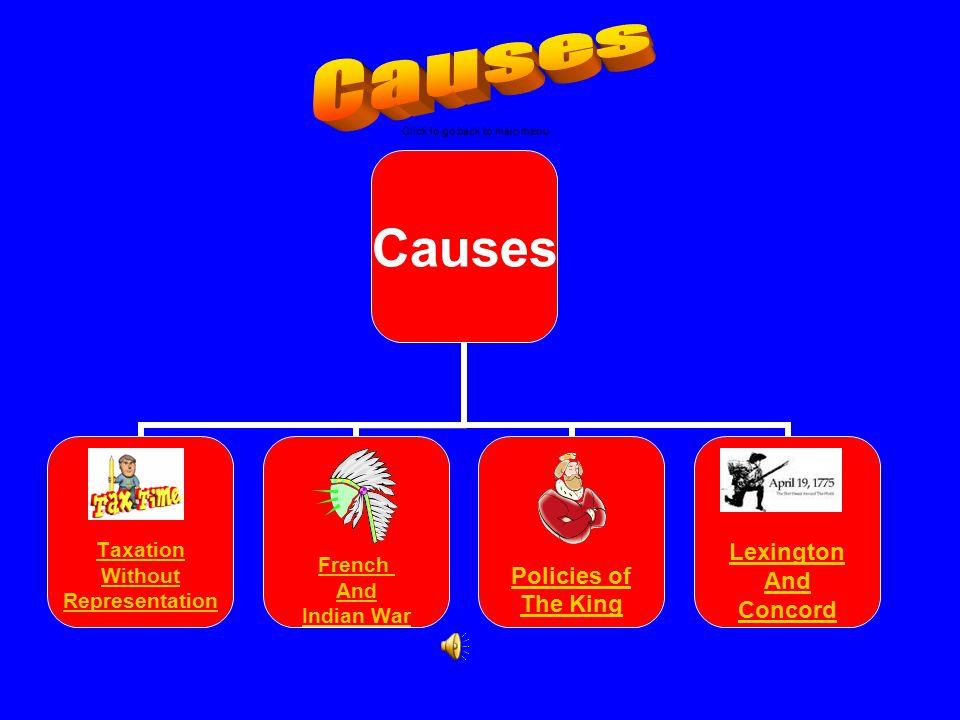 Causes Click to go back to main menu