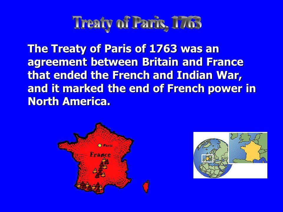 Treaty of Paris, 1763
