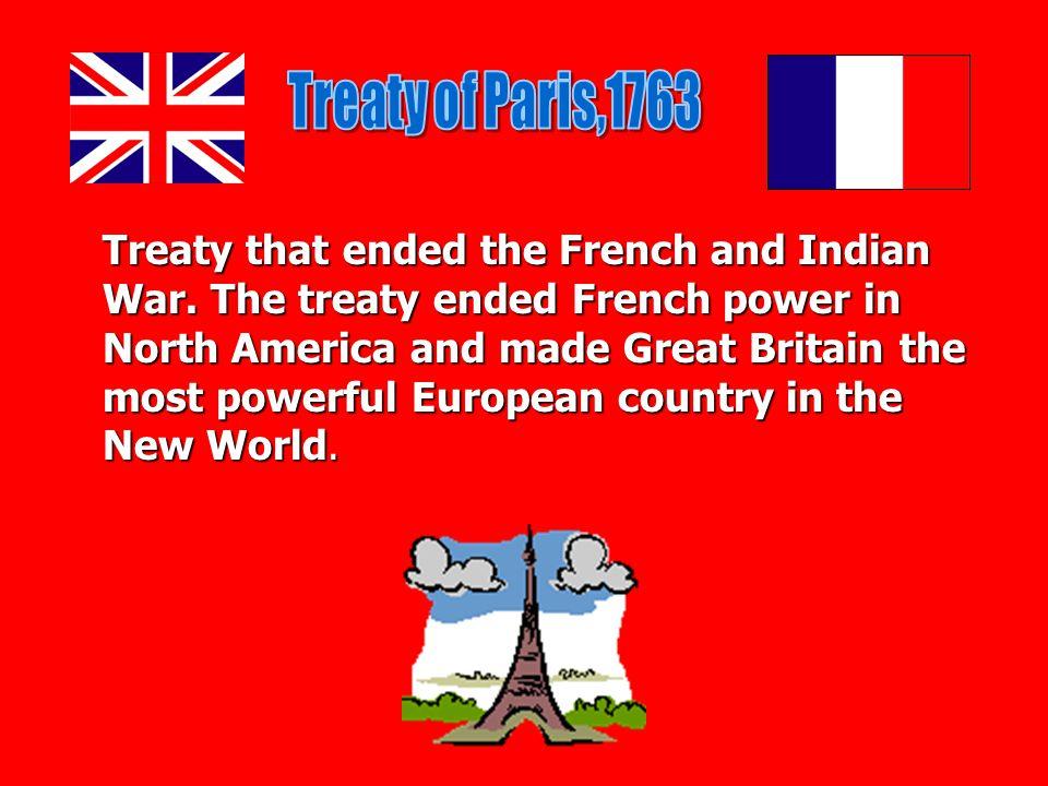Treaty of Paris,1763