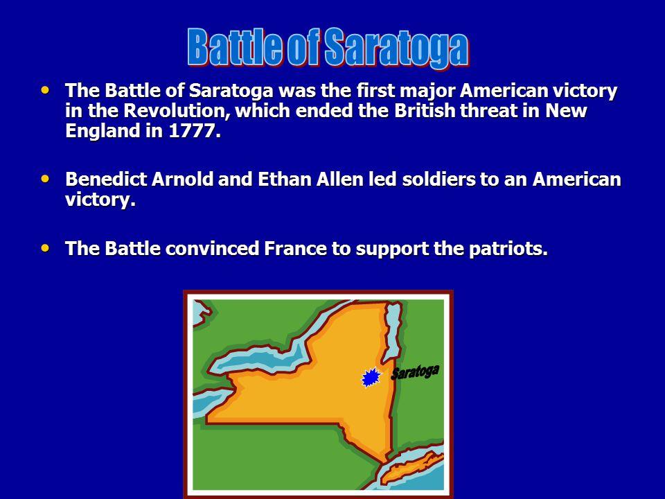 Battle of Saratoga Saratoga