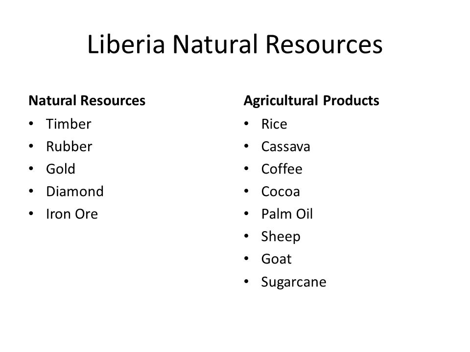Liberia Natural Resources