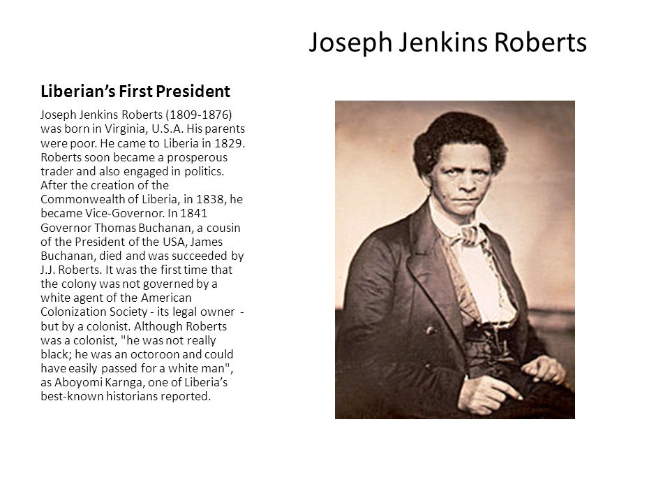 Liberian's First President