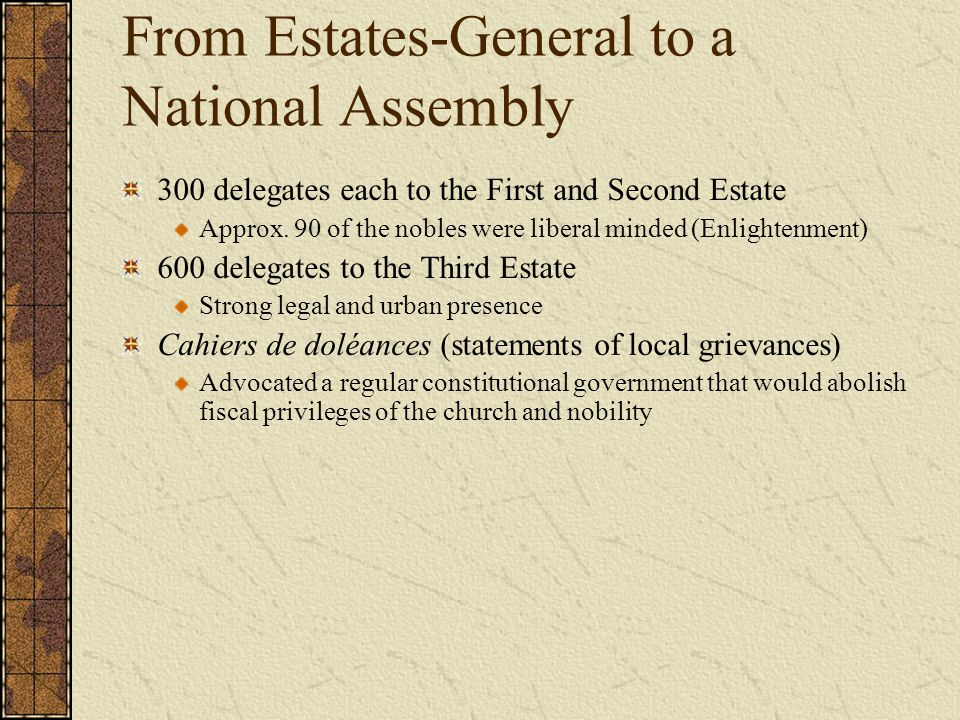 From Estates-General to a National Assembly