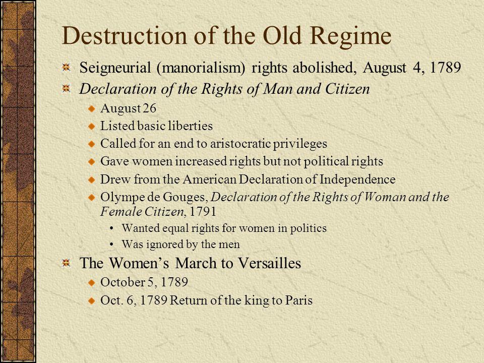 Destruction of the Old Regime