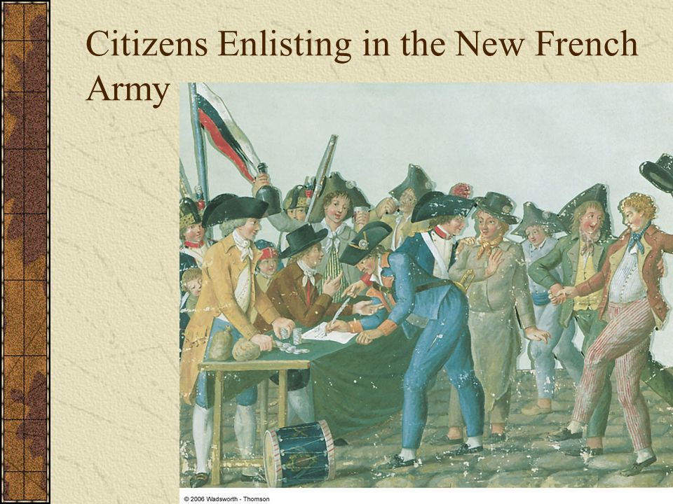 Citizens Enlisting in the New French Army