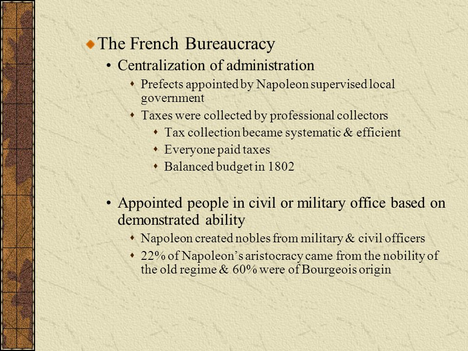 The French Bureaucracy